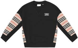 BURBERRY KIDS Cotton-jersey sweatshirt