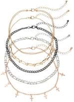 Mudd Cross Station & Chain Choker Necklace Set