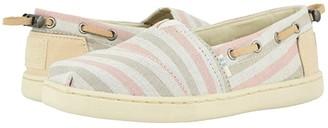 Toms Kids Kids Bimini (Little Kid/Big Kid) (Salmon Woven Stripe/Synthetic Trim) Girl's Shoes