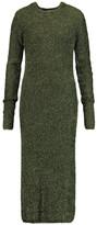 Tibi Metallic knitted midi dress