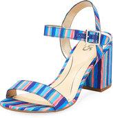 CIRCUS BY SAM EDELMAN Ashton Striped Sandal, Blue Pattern