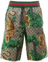 Gucci Bengal print swim shorts