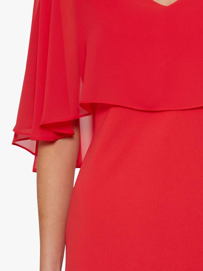 Thumbnail for your product : Gina Bacconi Adele Moss Crop Chiffon Dress
