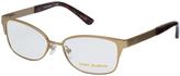 Tory Burch Gold Rectangle Eyeglasses