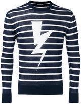 Neil Barrett lightning jumper - men - Cotton - XL