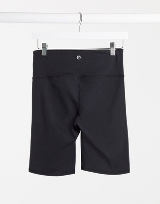 Cotton On high waist mid length performance shorts in black