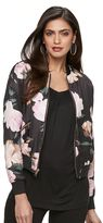 JLO by Jennifer Lopez Women's Floral Bomber Jacket