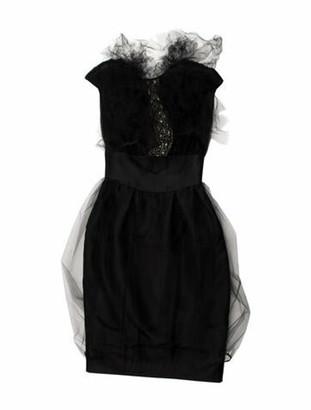 Valentino Strapless Knee-Length Dress Black