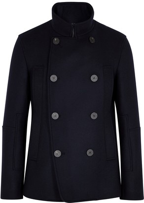 Wooyoungmi Navy double-breasted wool-blend jacket