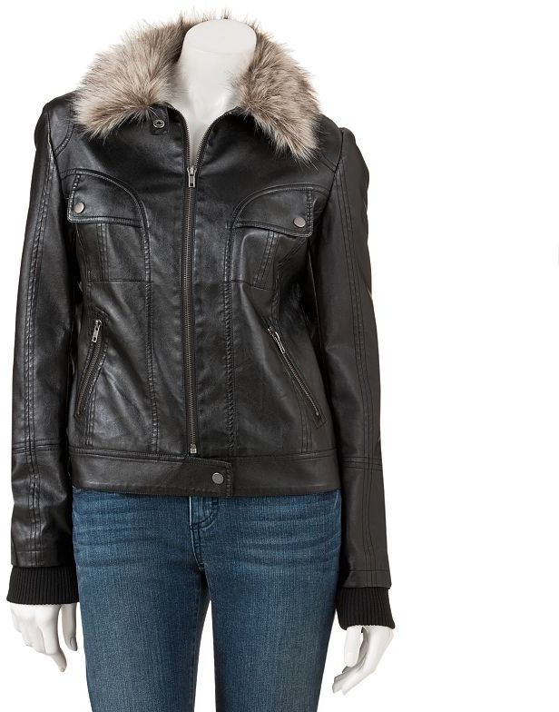 Say What faux leather moto jacket - juniors