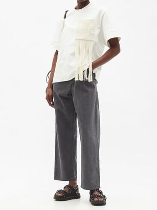 Kuro Asymmetric High-rise Straight-leg Jeans - Black