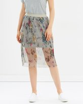 Only Printed Midi Skirt