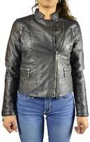 Garni Womens Fashion Faux Leather Moto Jacket