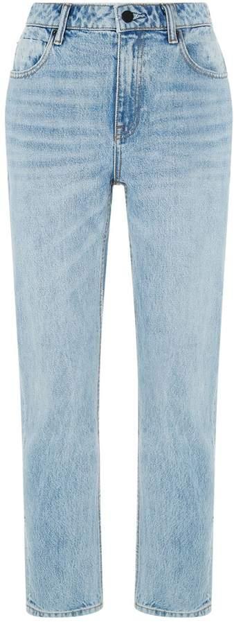 Alexander Wang Side Zip Straight-Leg Jeans