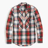J.Crew Festive plaid button-up shirt