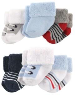 Luvable Friends Newborn Socks, 6-Pack, 0-3 Months