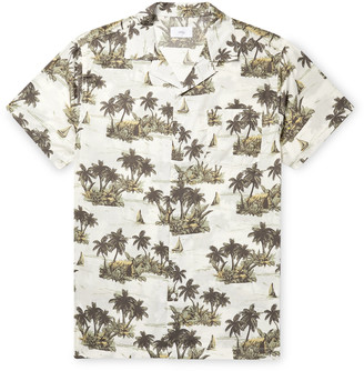 Onia Vacation Camp-Collar Printed Cotton and Modal-Blend Shirt - Men