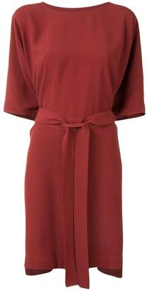 Rick Owens Tie-Waist Drape Dress