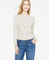 Ann Taylor Side Ruched Long Sleeve Top