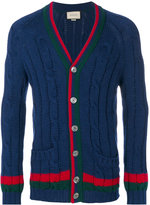 Gucci cable knit cardigan - men - Wool - XS