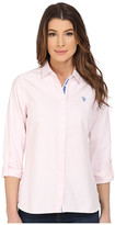 U.S. Polo Assn. Long Sleeve Solid Oxford Shirt