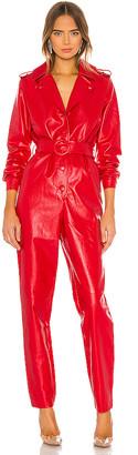 Ronny Kobo Alie Faux Leather Jumpsuit