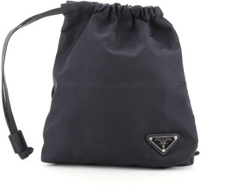 Prada Drawstring Crossbody Pouch Tessuto Small