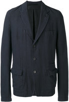 Haider Ackermann multi-pocket blazer - men - Cotton/Linen/Flax/Spandex/Elastane - 46