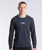 Emporio Armani Large Eagle Long Sleeve T-Shirt
