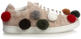 Joshua Sanders Pompom-embellished knitted trainers