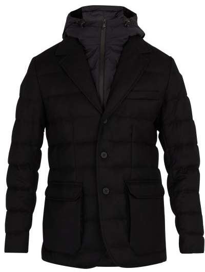 Moncler Vernoux Quilted Down Blazer - Mens - Black