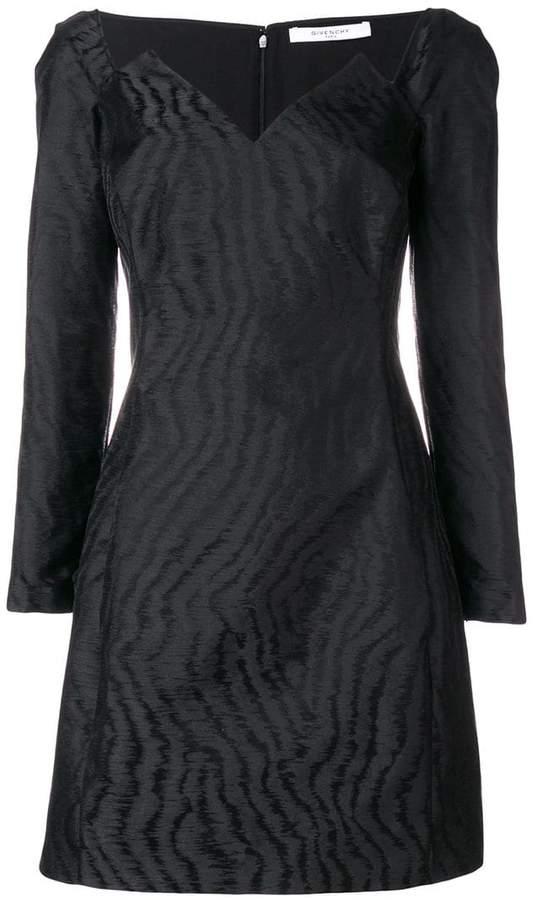 Givenchy geometric neckline mini dress