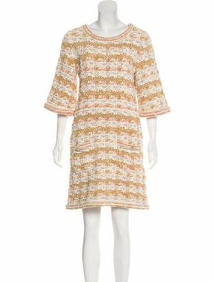 Chanel Paris-Dubai Knit Dress Yellow