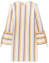 Victoria, Victoria Beckham - Striped Satin-twill Dress - Yellow