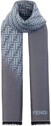 Fendi FF motif winter scarf