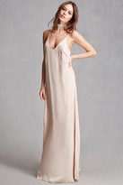 Forever 21 Satin V-Neck Maxi Dress