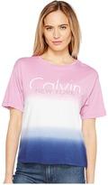 Calvin Klein Jeans Dip-Dye Logo Boy Fit T-Shirt Women's Clothing