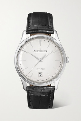 Jaeger-LeCoultre Master Ultra Thin Date Automatic 39mm Stainless Steel And Alligator Watch - Silver
