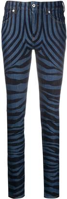 Just Cavalli Zebra Print Jeans