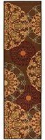 """Ottomanson OTH2268-20X59 Ottohome Collection Contemporary Damask Design Runner Rug with Non-Skid (Non-Slip) Rubber Backing, 20"""" x 59"""", Brown"""