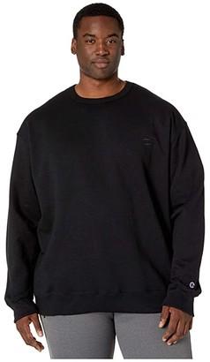 Champion Big Tall Powerblend Fleece Crew (Black) Men's Sweatshirt