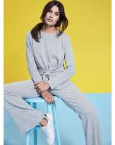 Fashion World Grey Soft Touch Tie Front Jersey Top