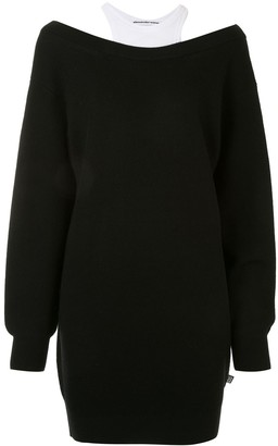 Alexander Wang Off The Shoulder Knit Dress