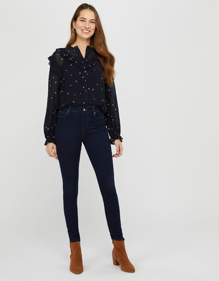 Under Armour Nadine Dark Rinse Skinny Jeans with Organic Cotton Blue