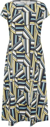 Nougat Lille Geo Split Front Dress