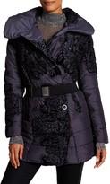 Desigual Large Spread Collar With Velvet Design Bubble Coat