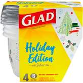Glad Holiday Food Storage Containers Small Bowl 32 oz 4 ct