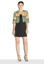 Milly Couture Neon Jacquard Cropped Bolero