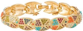 Susan Caplan Vintage 1980s Vintage Dorlan Jewel Toned Swarovski Crystal Bracelet