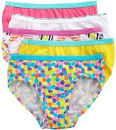 Hanes patterned 5-pk. hipsters - girls